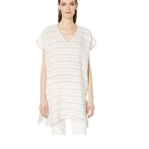 NWT Eileen Fisher Linen Striped Poncho Tunic S/M